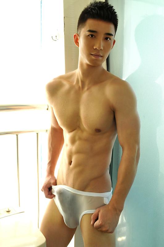 Sexy naked hot man half